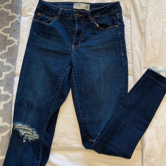 Dark Wash Garage Jeans- super comfy and flattering
